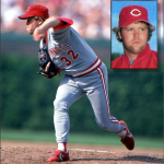 Tom Browning of the Cincinnati Reds pitches the 14th perfect game in major league history
