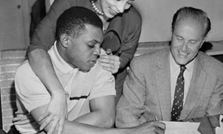 Willie Mays signs the largest contract in baseball reportedly $90,000 for the upcoming season