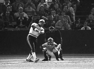 Willie Stargell hits homerun out of Forbes Field