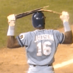 Bo Jackson of the Kansas City Royals hits a monstrous 461-foot home run against Nolan Ryan