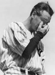 Lou Gehrig's rumber retired at Yankee Stadium