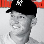future Hall of Famer Mickey Mantle signs his first contract