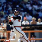 """Reggie Jackson homers off Ron Guidry in his return to New York - Yankee fans chant """"stienbrenner"""