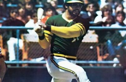 Oakland A's designated hitter Reggie Jackson hits his 563rd and final career home run