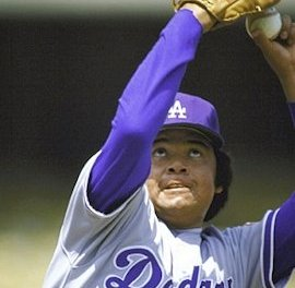 Fernando Valenzuela ends his holdout and reports to the Dodgers spring training camp in Vero Beach, Florida