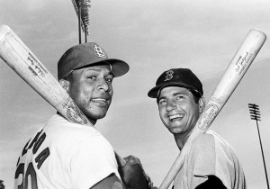 Orlando Cepeda at the end of his career ties record for 4 doubles in a game
