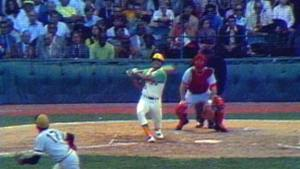 Reggie Jackson drives in 10 runs, helping the Oakland A's to a 21-7 romp over the Boston Red Sox
