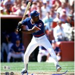 Andre Dawson Signed Chicago Cubs 'Batting' 8x10 Photo