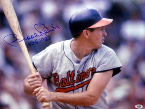 Brooks Robinson of the Baltimore Orioles collects the 2,000th hit of his career