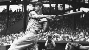 Joe DiMaggio connects for 3 homeruns including 2 against Bob Feller