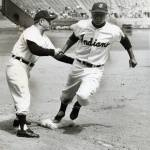 Larry Doby makes his first start as a major league player