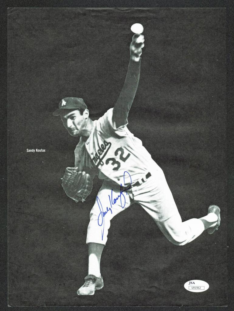 Sandy Koufax & Willie Mays Signed 8.75x12 Magazine Page #U91962 - JSA Certified