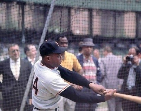 Willie Mays makes his major league debut for the New York Giants