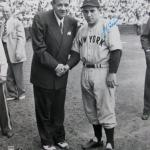 Yogi Berra with Babe Ruth New York Yankees Signed 16x20 B/W Photo 140915 - PSA/DNA Certified