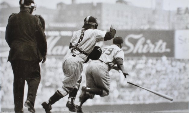 Hall of Famer Roy Campanella of the Brooklyn Dodgers hits three consecutive home runs