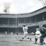 Mickey Mantle ties a major league mark by switch-hitting home runs for the second time in his career.