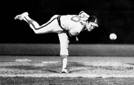 California Angels fireballer Nolan Ryan notches the fourth no-hitter of his major league career