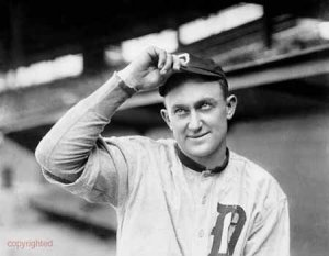 Ty Cobb makes his major league debut for the Detroit Tigers