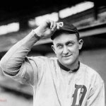 Ty Cobb of the Detroit Tigers hits three home runs against the St. Louis Browns