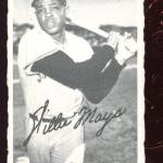 1969 O-Pee-Chee Deckle Edge Baseball Card Insert Willie Mays EXMT