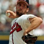 John Smoltz becomes the 16th major league pitcher to strike out 3,000 batters