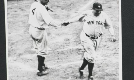 Babe Ruth hits three consecutive home runs in the first game of a doubleheader then bats right handed for his 4th at bat