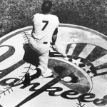 Mickey Mantle sets the record by hitting HR's from both sides of the plate for 3rd time in his short career