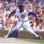 Signed Lee Smith Picture - Chicago Cubs 8x10 W coa