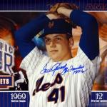 "Tom Seaver Autographed 12x36 Panoramic Photo New York Mets ""The Franchise HOF 92"" Stock #77721 - PSA/DNA Certified"