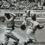 Ebbets Field 1956 Roy Campanella vs Phillies