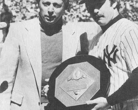Yankee catcher Thurman Munson wins 1976 AL Most Valuable Player