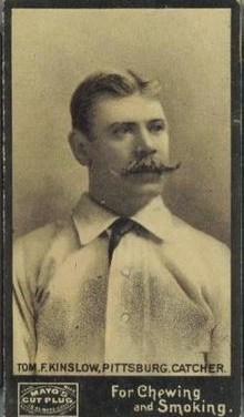 Pittsburgh Pirates traded pitcher Ad Gumbert to the Brooklyn Grooms for catcher Tom Kinslow.