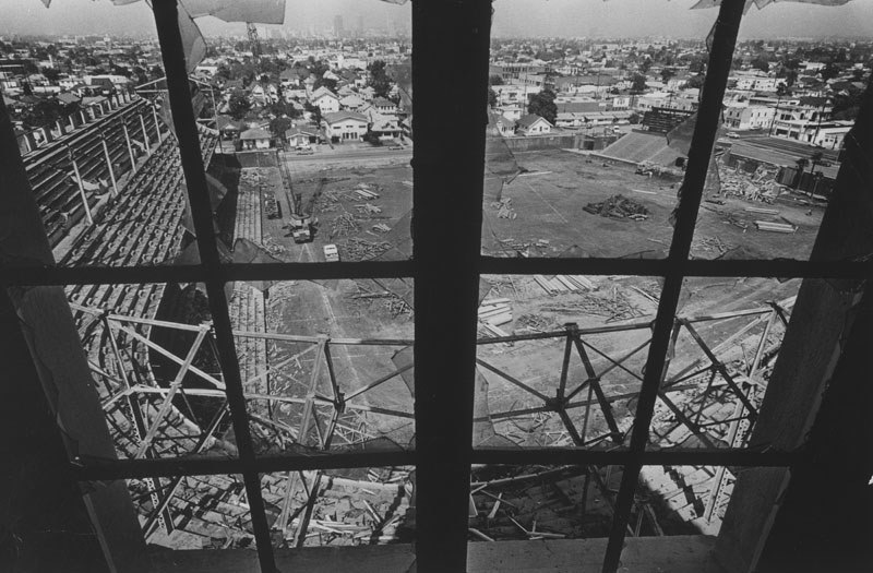 Demolition of Wrigley Field. Photo dated: March 19, 1966.