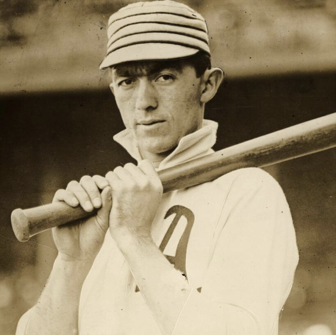 """""""I'd sure loved to have swung against today's lively ball. Yes, with my 52-ounce bat. . . . Many hitters are swinging for the fences instead of choking up. Of course, homers are nice. But I'll take a good .300 hitter who can get on base often. You can't drive in many runs batting .225 no matter how many homers you hit."""" — Frank """"Home Run"""" Baker"""