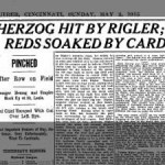 Buck Herzog and home plate umpire Charles Rigler fought on the field