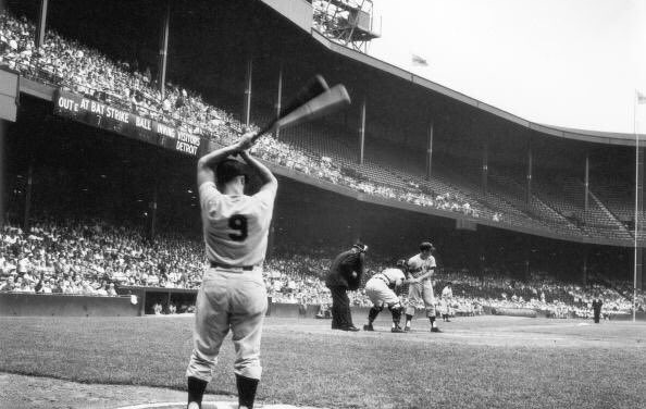 """Mickey Mantle blasts a spring training homerun and Stan Musial contends, """"no home run has ever cleared my head by as much as long as I can remember."""""""