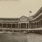April 12, 1911 The Reds announced that horse-drawn carriages were no longer allowed at the Palace of the Fans. When the ballpark opened in 1902, there were few autos in the city and space was built to allow those arriving in carriages to park them under the stands. By 1911, that space was taken over by those arriving in autos. The Palace was torn down the following season and Redland Field opened in 1912. A lot was created for 500 cars, which proved to be inadequate immediately. Parking was an issue at Redland/Crosley Field until the ballpark was abandoned in 1970.