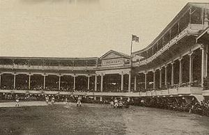 Redland Field makes its debut with the hometown Reds beating Chicago, 10-6