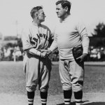 Bill McKechnie and Babe Ruth at spring training in St. Petersburg, Florida - 1935.