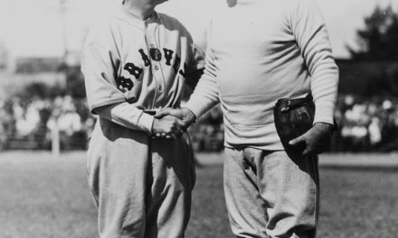 Bill McKechnie and Babe Ruth at spring training in St. Petersburg, Florida – 1935.