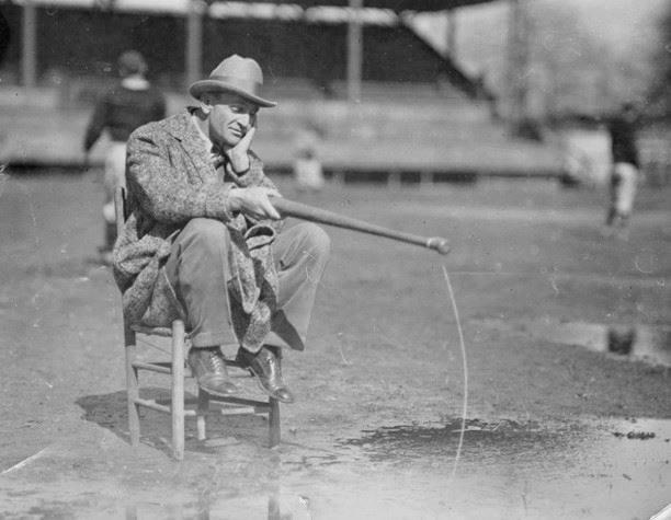 Casey Stengel at spring training in St. Petersburg, Florida – 1925.