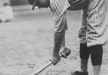 Babe Ruth at spring training in Shreveport, Louisiana – 1921.