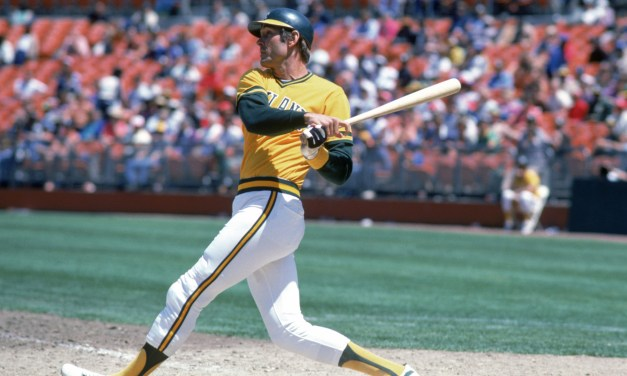 In his first three at-bats, A's Dave Kingman hits three home runs