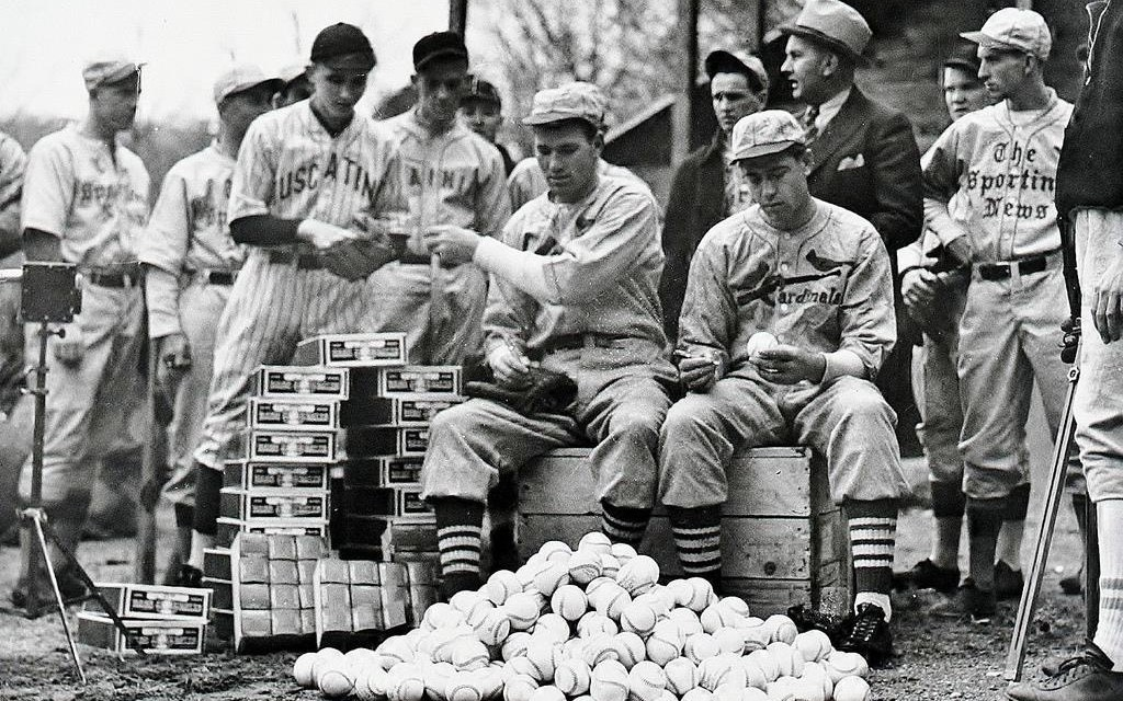 Dizzy Dean and Paul Dean. Ray Doan's All-Star Baseball School at spring training in Hot Springs, Arkansas – 1935
