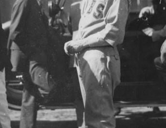 Grover Cleveland Alexander at spring training in Pasadena, California – 1919.