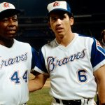 Hank Aaron, in his final at-bat for the Braves after spending 21 seasons with the team, homers off right-hander Rawly Eastwick in the 13-0 rout of Cincinnati at Atlanta Stadium. The Hammer's last National League plate appearance yields his 3600th career hit, which is the Brewer-bound outfielder's career 736th round-tripper.