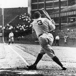 At Griffith Stadium in Washington, D. C., Yankees legend Babe Ruth hits his 659th and final home run wearing pinstripes. The 'Bambino' had 49 homers with the Red Sox prior to coming to New York and will add six additional round-trippers with the Braves before retiring next season.