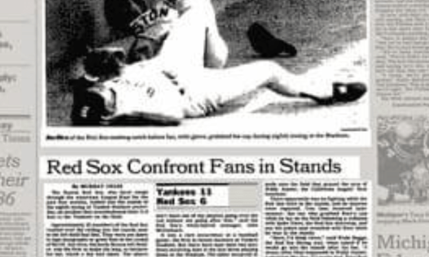 Jim Rice cap stolen by Yankee Fans