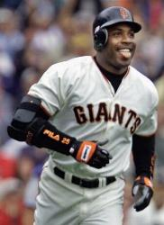 For the second time this season, Barry Bonds homers in six consecutive games. His nine homers during this span establish a National League mark. Senators' slugger Frank Howard's 1968 feat of hitting 10 homers in six games is the major league record.