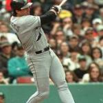 The A's Jose Canseco strikes out in his first major league at-bat. During his 17 seasons in the major leagues, the slugger strikes out 1,942 times en route to hitting 462 home runs.